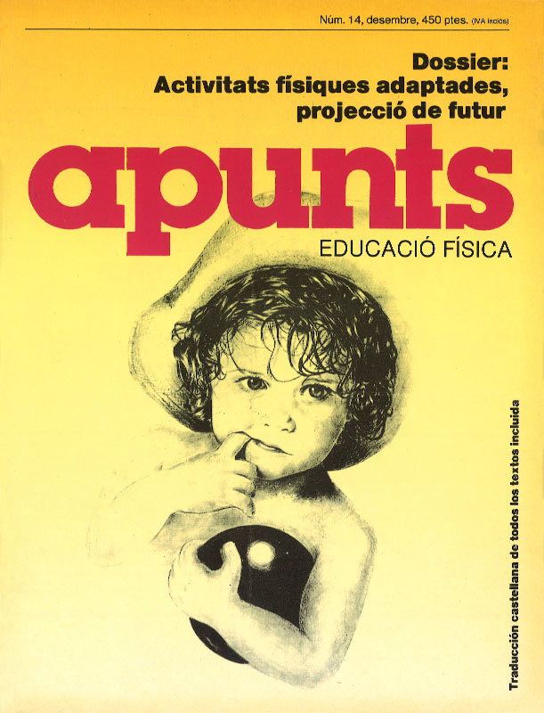 Portada 14 Apunts Educación Física y Deportes. INEFC