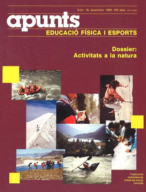 Portada 18 Apunts Educación Física y Deportes. INEFC