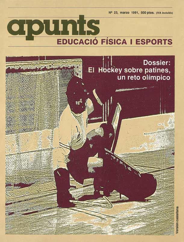 Portada 23 Apunts Educación Física y Deportes. INEFC