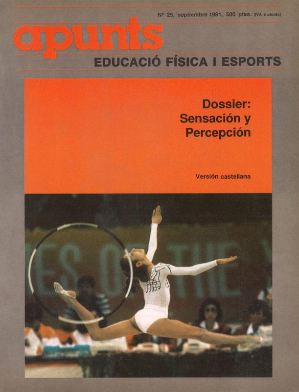 Portada 25 Apunts Educación Física y Deportes. INEFC