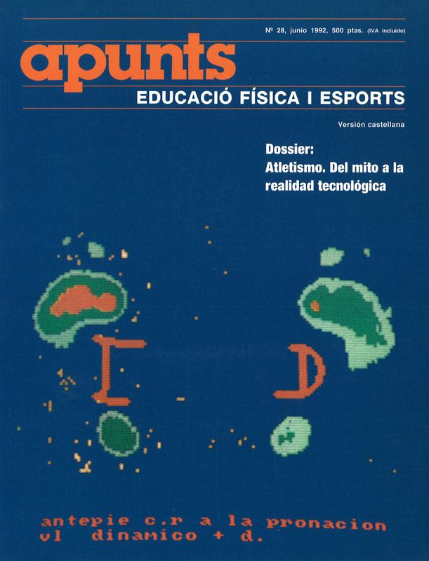 Portada 28 Apunts Educación Física y Deportes. INEFC