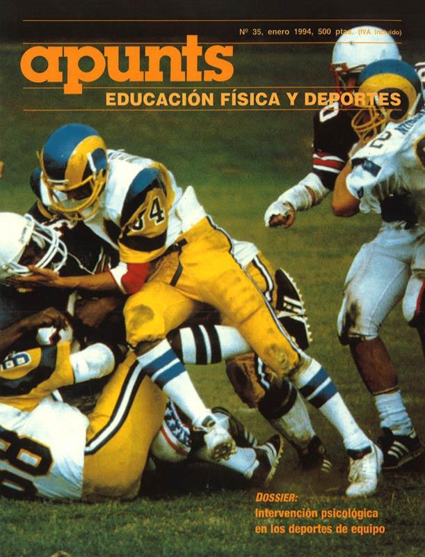 Portada 35 Apunts Educación Física y Deportes. INEFC