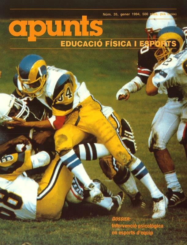 Cobrir 35 Apunts Educació Física i Esports. INEFC
