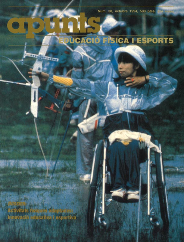 Cobrir 38 Apunts Educació Física i Esports. INEFC