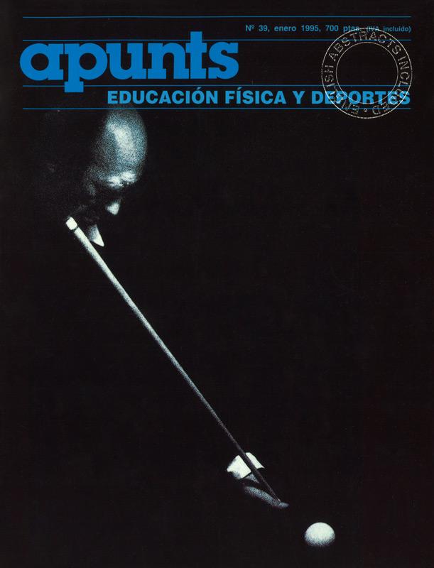 Portada 39 Apunts Educación Física y Deportes. INEFC