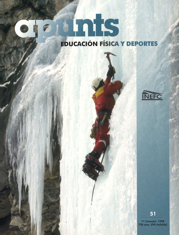 Portada 51 Apunts Educación Física y Deportes. INEFC