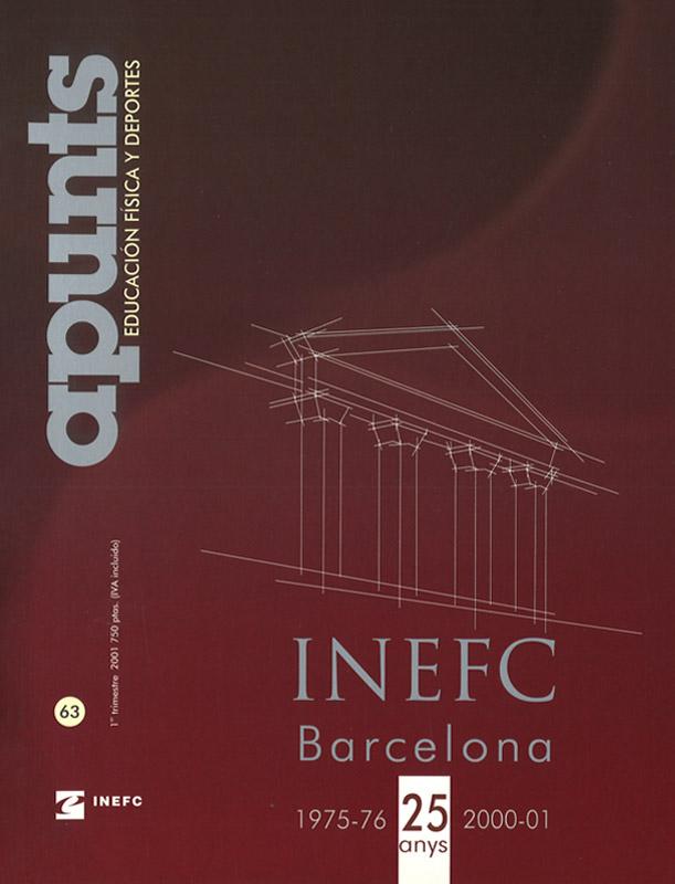 Portada 63 Apunts Educación Física y Deportes. INEFC