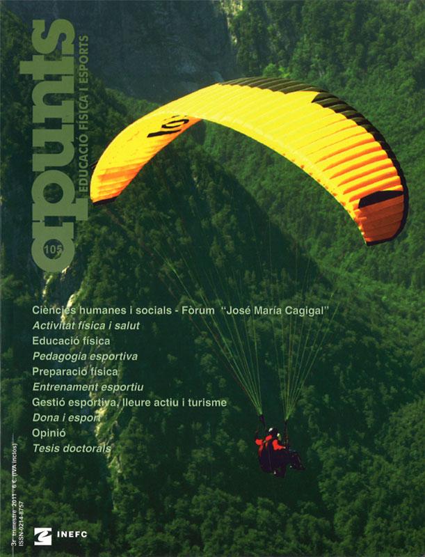 Cobrir 105 Apunts Educació Física i Esports. Inefc