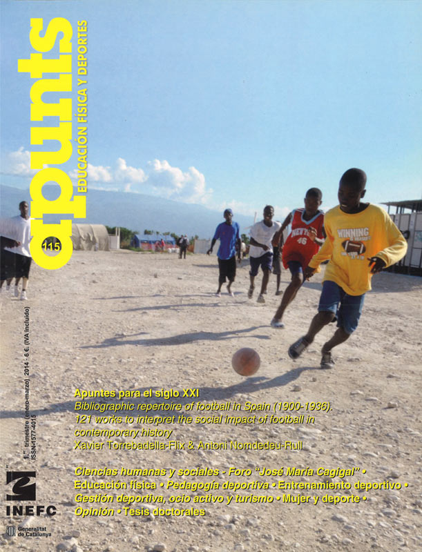 Portada 115 Apunts Educación Física y Deportes. INEFC