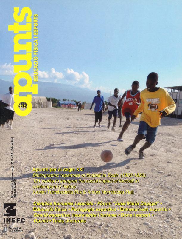 Cobrir 115 Apunts Educació Física i Esports. Inefc