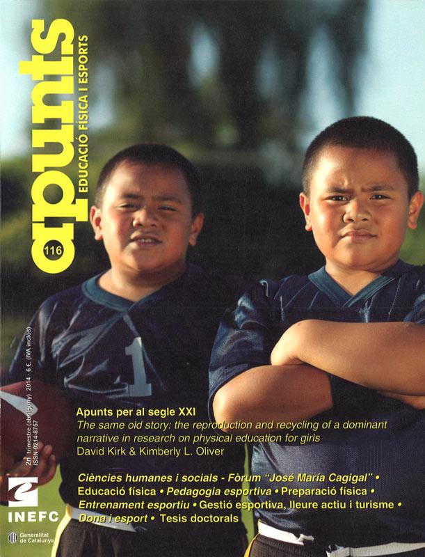 Cobrir 116 Apunts Educació Física i Esports. Inefc