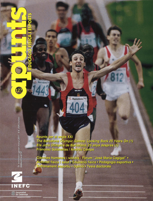 Cobrir 127 Apunts Educació Física i Esports. Inefc