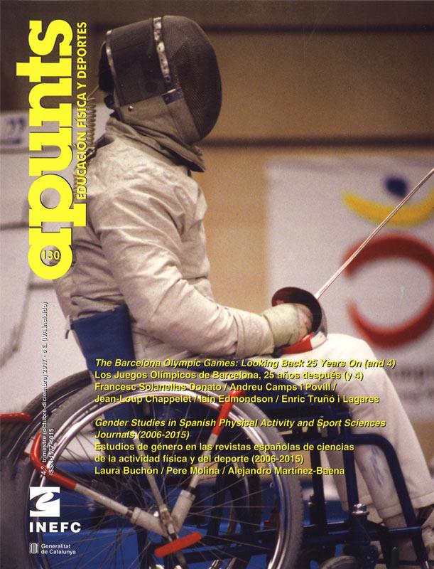 Portada 130 Apunts Educación Física y Deportes. INEFC