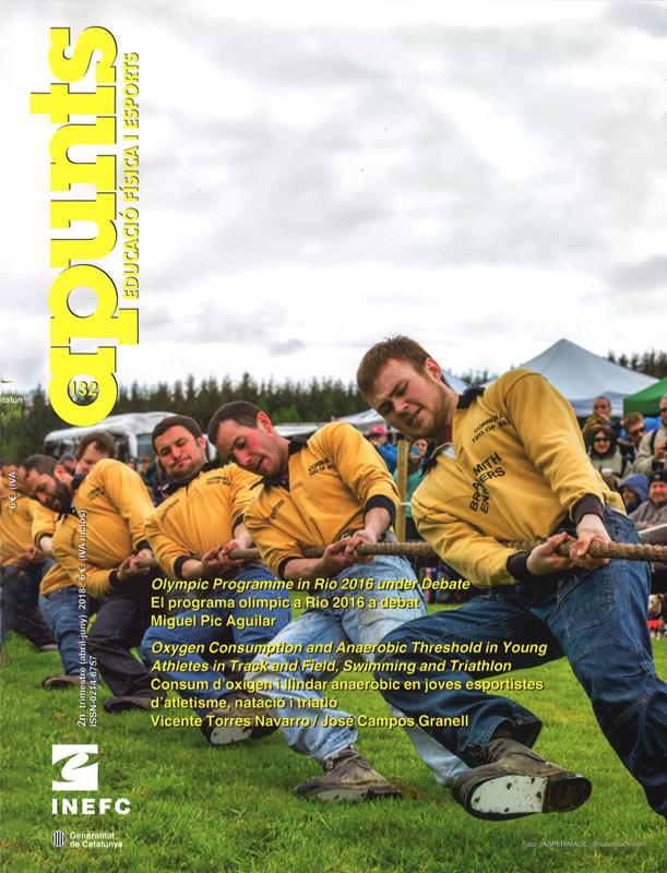 Cobrir 132 Apunts Educació Física i Esports. Inefc